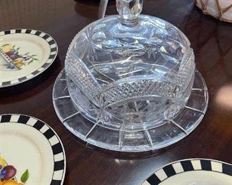 Blown Glass Cake plate