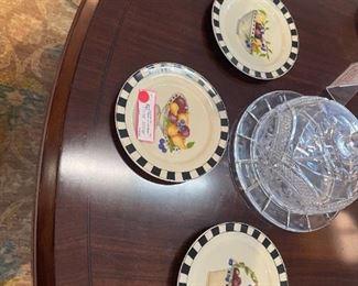 3 Fruit themed plates