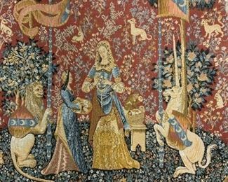 The Lady with the Unicorn Wall Tapestry