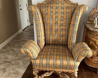 Burberry Upholstered Arm Chair  $2,500