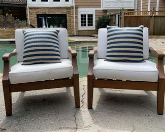 Lot #88: Outdoor Chairs by Pottery Barn