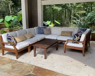 Lot #117: Outdoor Sectional Seating by Pottery Barn