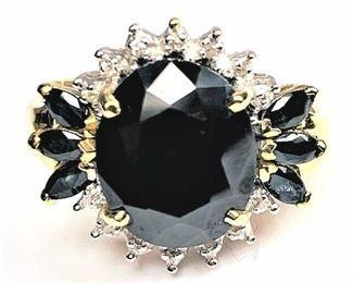 10k Sapphire & Diamond