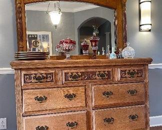 Stunning antique dresser.