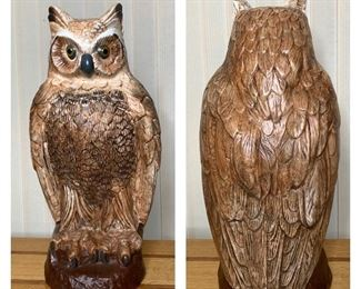 Tall Ceramic Owl