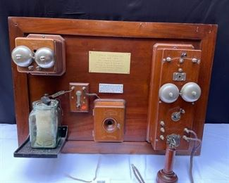 original Charles Williams Jr. COFFIN telephones