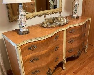Vintage French/ Italian Provincial dresser and mirror