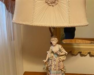Vintage Italian Victorian lamps (pair - man and woman)