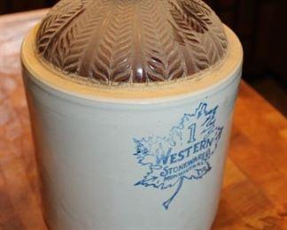 Western Stoneware Crock Jug