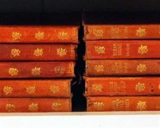 Nelson New Century Library Charles Dickens Set, Leather Cover With Gilt Lettering Includes Volumes 2, 3, 4, 5, 6, 8, 10, 12, 16 And Dombey And Son