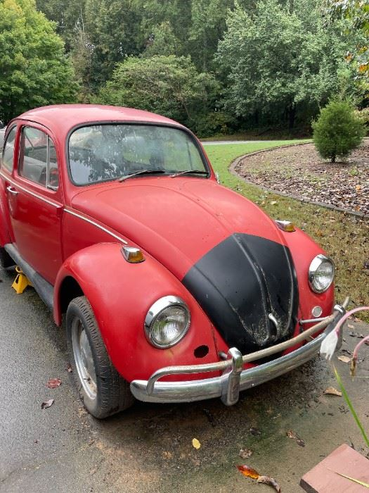 """1967VW Beetle """"DOESN'T RUN"""" Bidding starts at 9:00am Thursday and ends Friday at 3:00pm"""