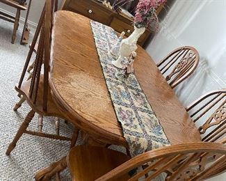 Table and 6 chairs 65.00