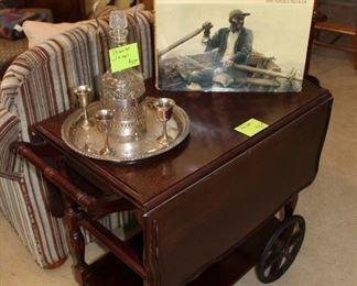 Wooden tea cart