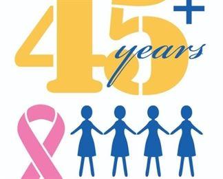 Four Sales 45 Years Full BC Ribbon Logo