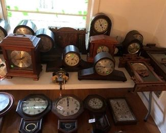 Part of the vintage clock collection