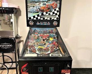 """1991 Data East Porsche-Themed  """"Checkpoint Redline"""" Pinball Machine.  Excellent working condition!"""