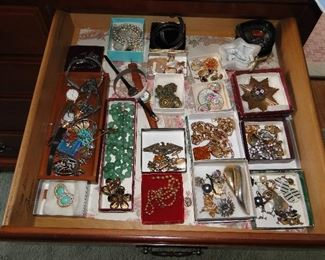 Lots of vintage Costume Jewelry