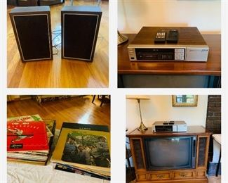 Zenith console TV and VHS