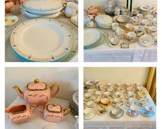 1922 Sadler Tea Set, English tea cups and saucers.