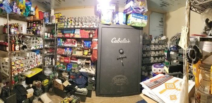 Gun safe and canned goods