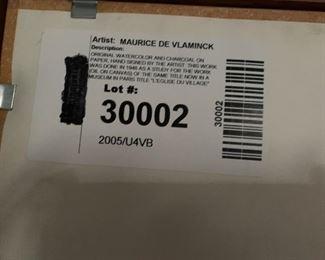 Vlaminck back of frame info