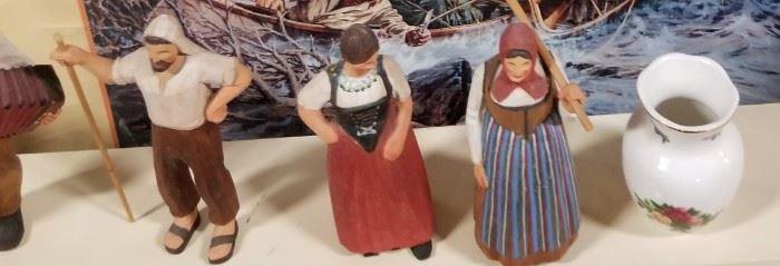 Swiss Carved Figurines