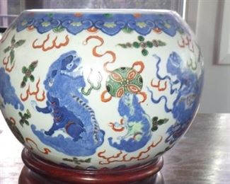 A CHINESE PORCELAIN BOWL WITH WANLI MARK (1572)-(1620) BUT PROBALY JIAQING (1796-1820)