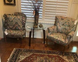 Flame stitch furniture