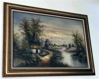 Axel Linus Eriksson Signed Painting
