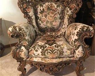 Basista Rococo Revival Arm Chair