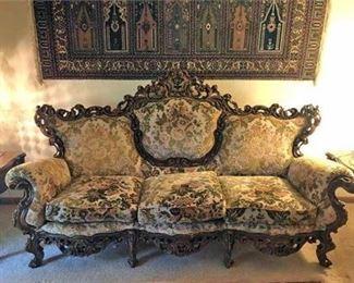 Basista Rococo Revival Sofa