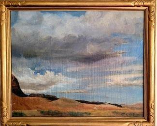 Carl Oscar Borg desert oil painting