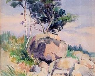 Edgar Payne landscape (watercolor)