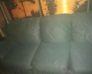 1. LIVING ROOM SOFA AND A MATCHING LOVE SEAT . COLOR IS ACTUALLY A DARK GRAY $125 EA