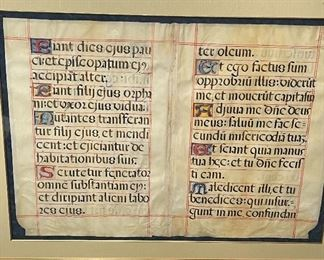 "Vellum Manuscript Framed  4'5"" x 3'5"""