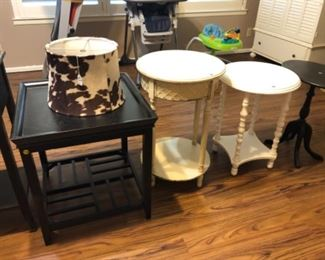 Cowhide shade, tables