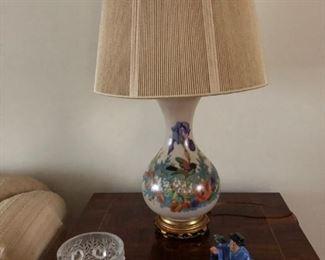 Pair of Lamps, Lalique, Royal Doulton Figure