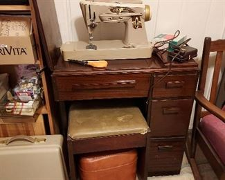 Singer Sewing Machine, Sewing Table
