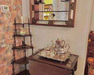 Tea Cart, Mirrored Shadowbox