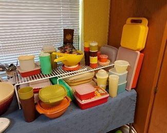 Vintage Colorful Tupperware