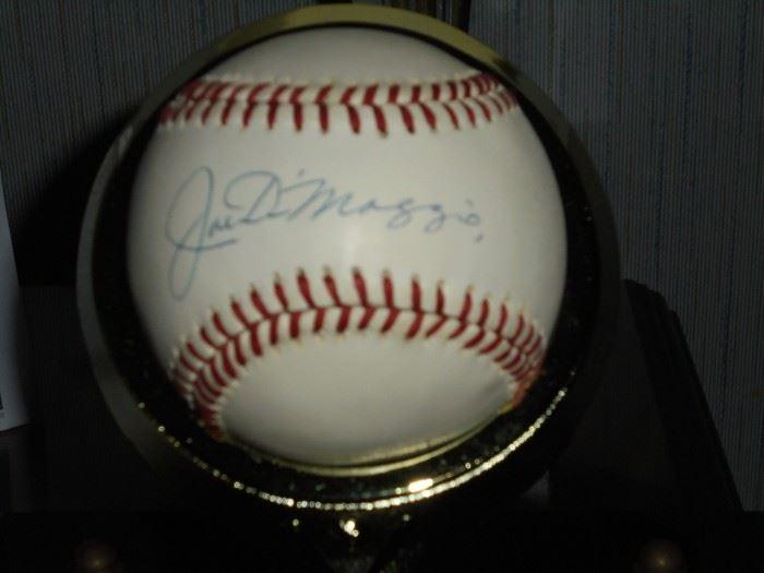 Authentic Joe DiMaggio baseball