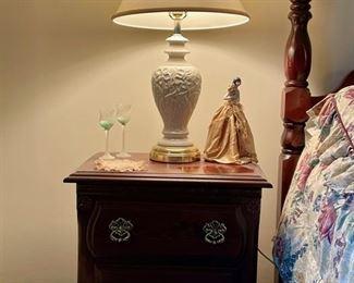 Night stand - $50, Lamp - $25