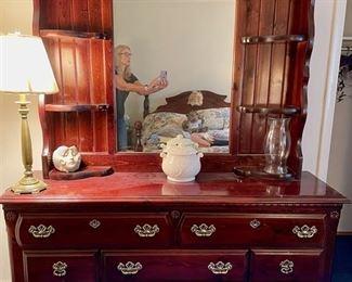Bureau with Mirror - $150
