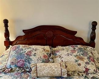 Queen size bed frame (head & foot) - $75