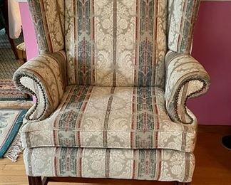 Floral Wing Back Chair - $70