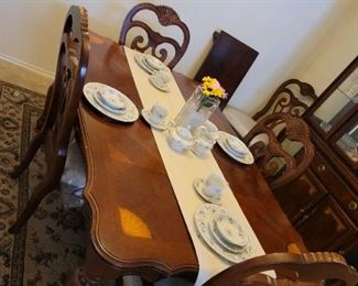 Matching Dining Table and 6 Chairs