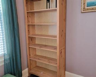 """Light wood bookcase - 78"""" high x 35"""" wide x 13"""" deep"""