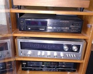 TV Room:                                                                                        Fisher Cassette Double Auto Reverse CR-W880 Kenwood Receiver KR-6400 Pioneer CD Player PD-M6 Bic Turntable 960
