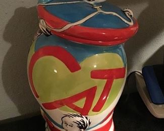 Cat in the Hat Cookie Jar - It can be used in a kitchen or movie room.