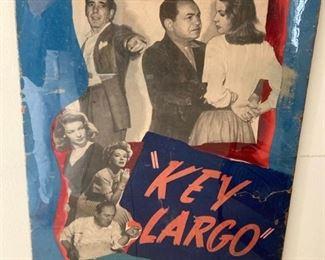 Key Largo poster featuring Bogart, Bacall & Edward G Robinson